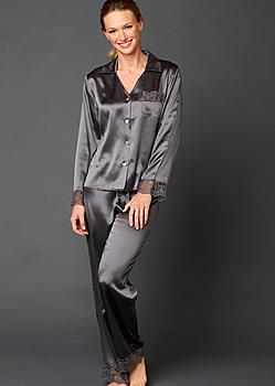 luxury silk petite pajamas