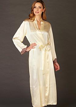 luxury silk robe