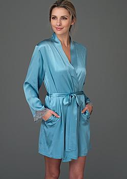 luxury woman's silk robe