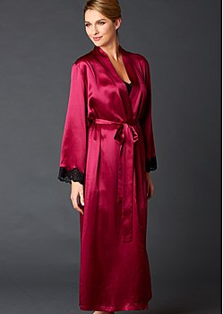 full length silk bathrobe