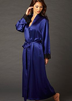 luxury full length silk robe
