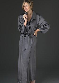 Petite size silk robe