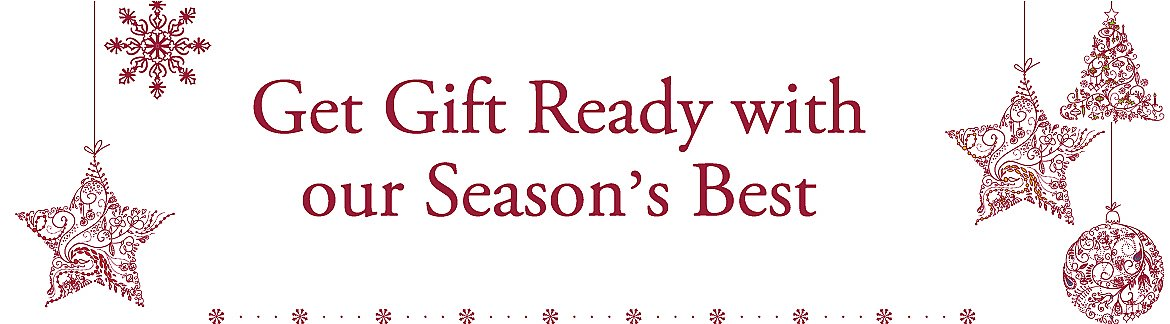Get Gift ready with our Season's Best
