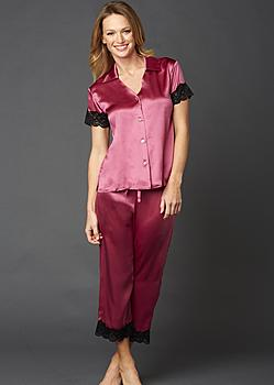fine silk pajamas