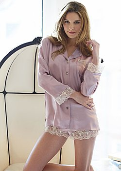 luxury silk pj top