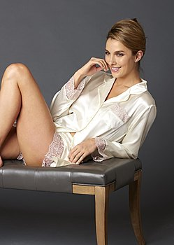 luxurious silk nightshirt