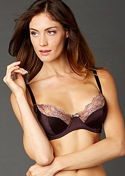 silk full bra with lace
