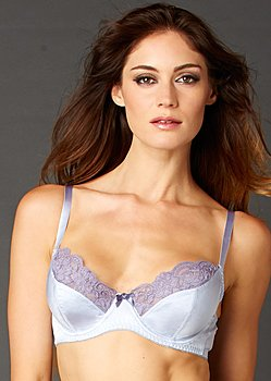 Luxury silk bra, full