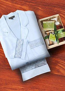 Luxury Cotton PJ with Spa Kit