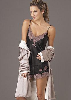 luxurious silk tap pant