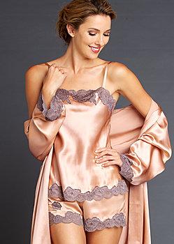 Silk Tresor Contrast Lace Cami Top
