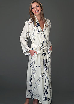 Silk long robe
