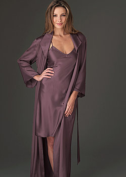 petite silk full length robe