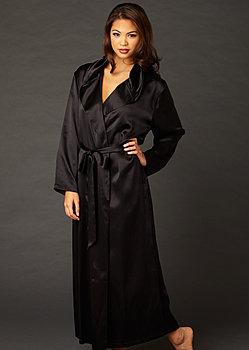luxury full length silk robe