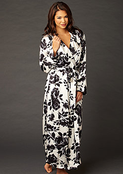 Ariadne Silk Print Robe Petite