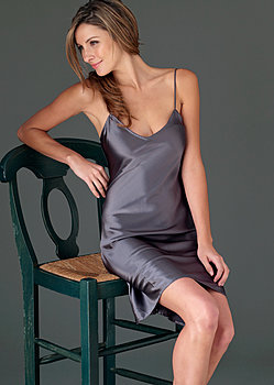 Midnight Beauty Silk Chemise