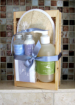 luxury spa gift basket