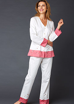 luxury cotton pj and spa gift
