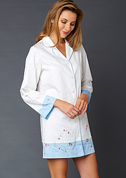luxury sleep shirt and spa kit