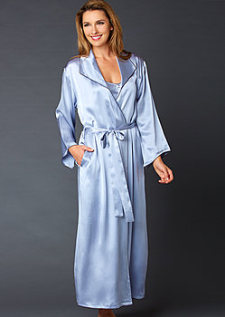 Evening Stroll Silk Robe
