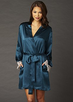 Indulgence Jewel Silk Short Robe