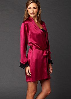 Indulgence Silk Short Robe