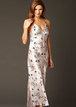 Ariadne Silk Print Long Gown