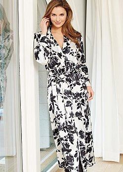 Ariadne Silk Print Robe