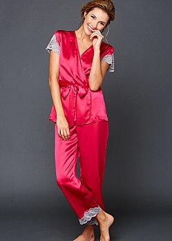 Island Time Silk Wrap Pajama
