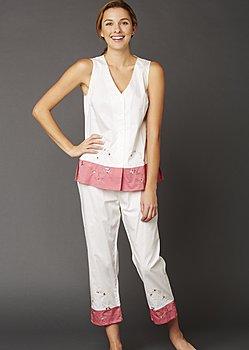 Daydreamer Sleeveless Cotton Pajamas