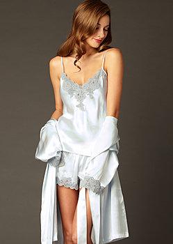 Le Tresor Silk Contrast Cami Top