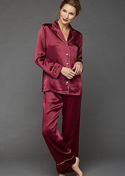 Paradise Found Silk Pajamas - Petite