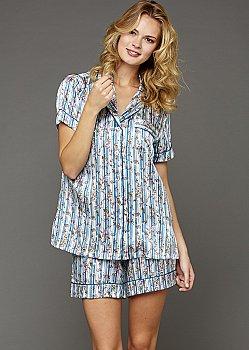 Paradise Found Short Sleeve Silk Pajamas