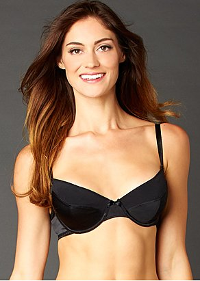 Luxury silk demi bra