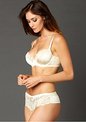 Luxury silk bra, full