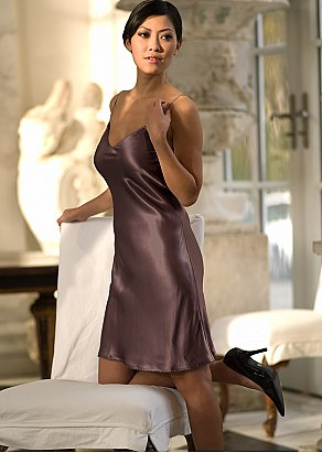 luxury silk nightgown