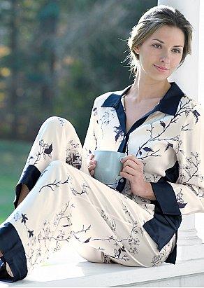 Jewel Garden Silk Pajama