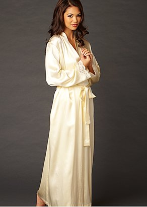 Indulgence Silk  Print Robe