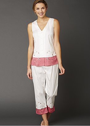 Daydreamer Sleeveless Cotton Pajamas