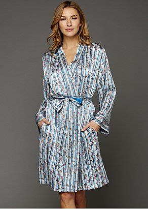 Paradise Found Silk Short Robe