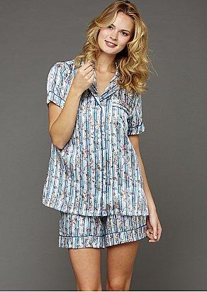 Paradise Found Short Sleeve Silk Pajama