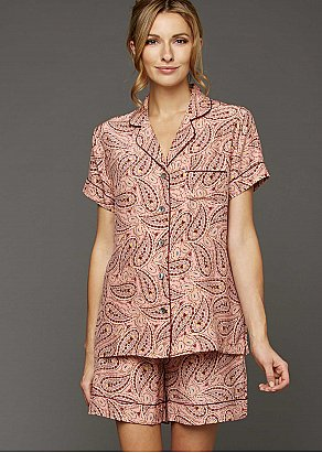 Paradise Found Short Sleeve Silk Pajama