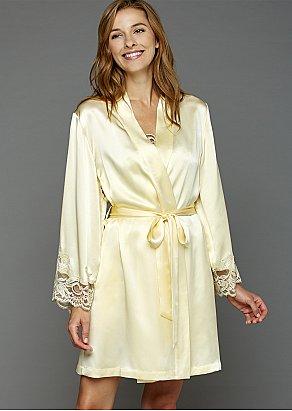Moonlight Serenade Silk Short Robe