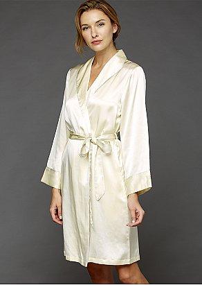 The Solid Splendid Silk Short Robe