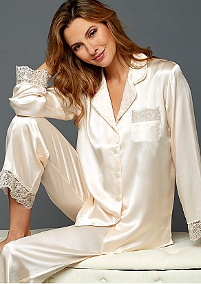 Sleep-In Silk Pajama