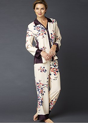 Jewel Garden Silk Pajama