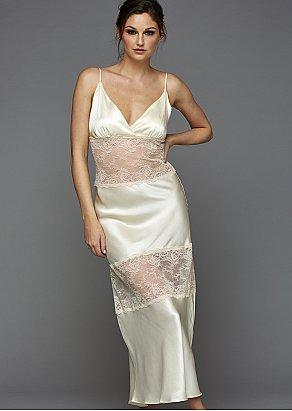 Sofia Silk Long Nightgown