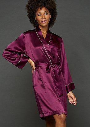 Paradise Found Silk Short Robe