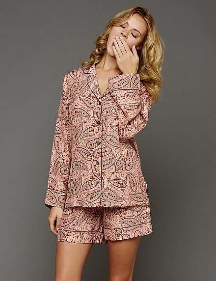 luxury silk pajamas - wear them in or out!