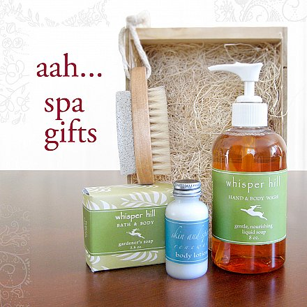 spa gifts - perfect for the holidays